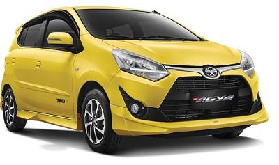 Toyota New Agya Kuning