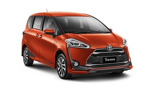Toyota Sienta Orange
