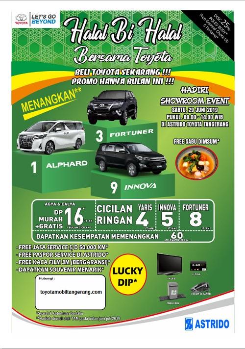 Promo DP Mobil Calya Event Halal Bihalal