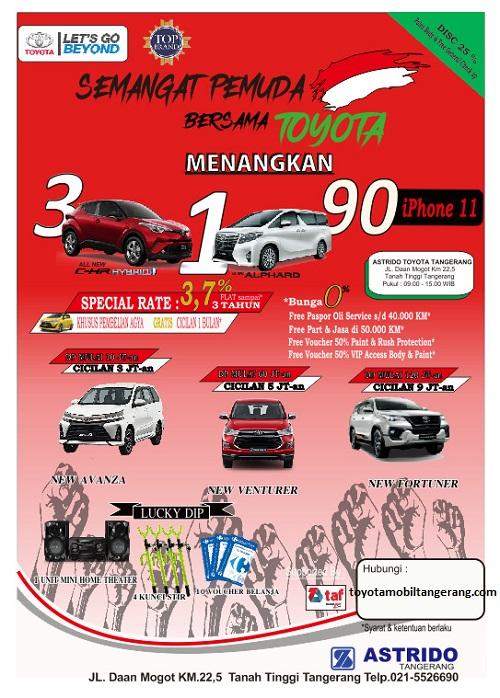 Promo Toyota Avanza DP 10 Jutaan